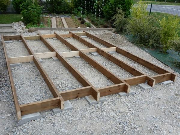comment monter un abri de jardin en bois sur plots. Black Bedroom Furniture Sets. Home Design Ideas